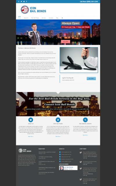 Icon Bail Bonds Website Preview
