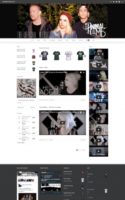 The Animal in Me Website Preview